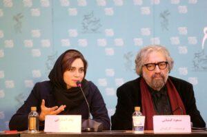 Die iranische Schauspielerin Pegah Ahangarani und der Regisseur Masoud Kimiaei
