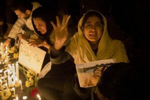 Iraner gedenken der Toten des Flugzeugabschusses durch das Regime