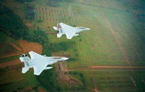 Israelische F-15-Jets über dem Vernichtungslager Auschwitz-Birkenau