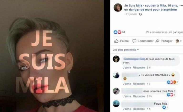"""Je suis Mila"": Facebook-Solidaritätsgruppe für bedrohtes Mädchen"