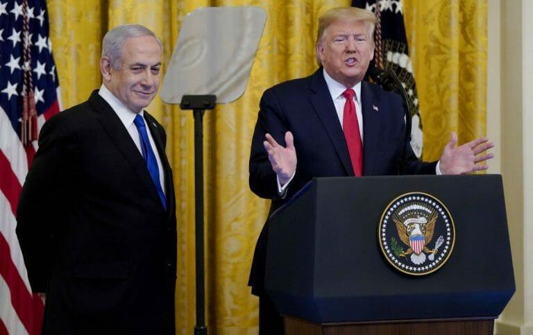 US-Präsident Trump präsentiert seinen Friedensplan für Israel und Palästinenser