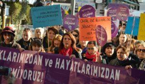 Demonstration gegen Gewalt an Frauen in der Türkei