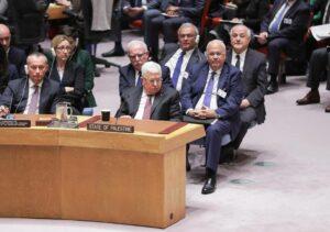 Mahmud Abbas hat gute Gründe, angesichts des Trump-Plans grimmig dreinzuschauen, wie hier im UN-Sicherheitsrat (imago images/ZUMA Press)