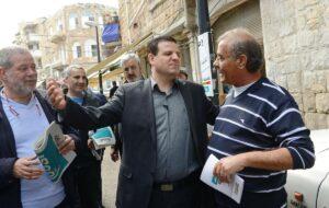 Ayman Odeh, Spitzenkandidat der Vereinigten Arabischen Liste. Den arabischen Parteien droht eine schwere Niederlage. (imago images/UPI Photo)