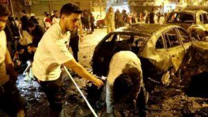 Schauplatz eines Bombenanschlags in Bengasi im Osten Libyens, der unter Kontrolle von Khalifa Haftar steht (imago images/Xinhua)