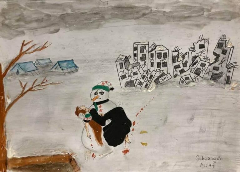 In Syrien erfrieren Flüchtlingskinder (Quelle: Facebook/Ghazwan Assaf)