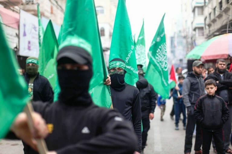 Hamas-Aufmarsch in Gaza (imago images/ZUMA Press)