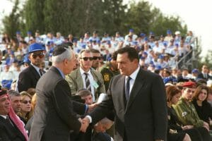 Mubarak, der Vater des Kalten Friedens, besuchte nur ein Mal Israel: zum Begräbnis von Jitzchak Rabin 1995 (Government Press Office/CC BY-NC-SA 2.0)