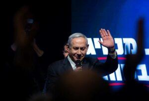 Wahlkampfauftritt von Israels Langzeit-Premier Benjamin Netanjahu. (imago images/Xinhua)