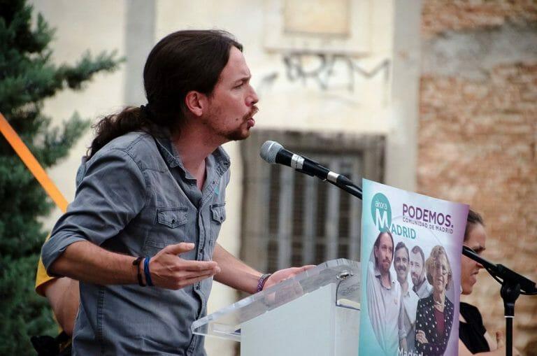Pablo Iglesias, Generalsekretär von Podemos, zweiter stellvertretender spanischer Ministerpräsident und Feind Israels (Ahora Madrid/CC BY-SA 2.0)