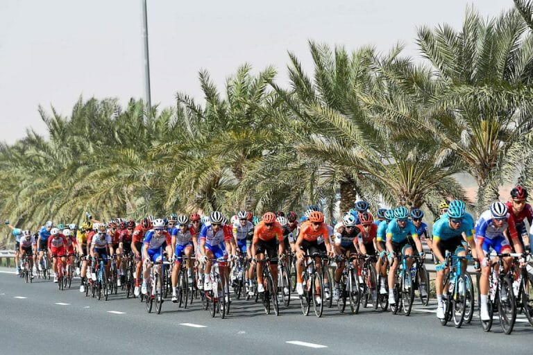 Am Radrennen in den Emiraten nahm erstmals ein israelisches Profiteam teil. (imago images/LaPresse)