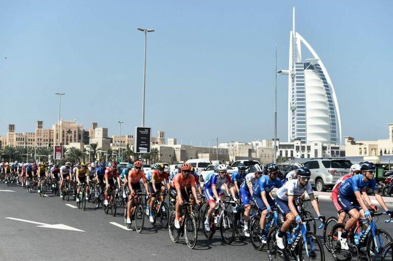 Die Tour durch die Vereinigen Arabischen Emirate findet zum ersten Mal mit Beteiligung eines israelischen Profi-Teams statt. (imago images/LaPresse)