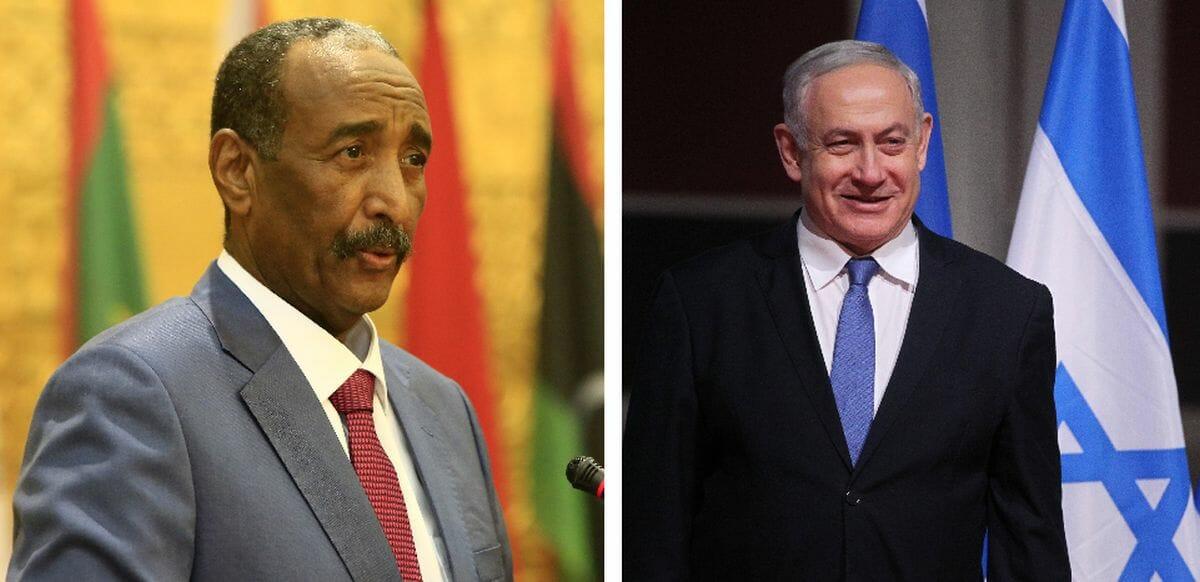 Führer von Sudans Souveränem Rat Abdel Fattah al-Burhan und Israels Permier Benjamin Netanjahu