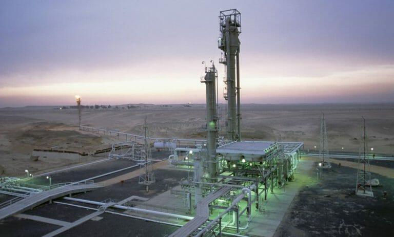 Gasraffinerie in Ägypten