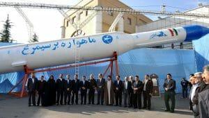 Iranische Rakete, die Satelliten ins All befördern kann