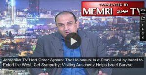 Jordanischer TV-Sprecher nennt Holocaust einen Erpressungsversuch Israels