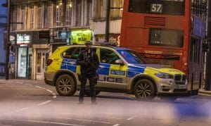 Tatort der Messerattacke in London