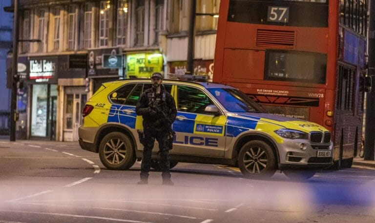 Tatort der Messerattacke in London