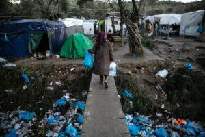 Flüchtlingslager Moria auf der griechischen Insel Lesbos