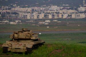 Die syrische Provinz Quneitra vom israelischen Golan aus gesehen
