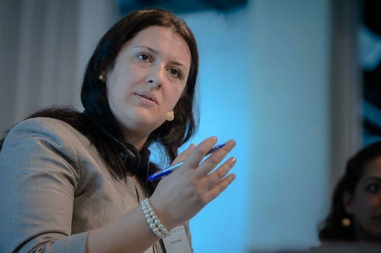 Die Vorsitzende der Syrischen Liberalen Partei Yasmine Merei