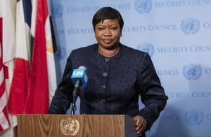 Fatou Bensouda, Chef-Anklägerin des Internationalen Strafgerichtshofs. (imago images/Pacific Press Agency)