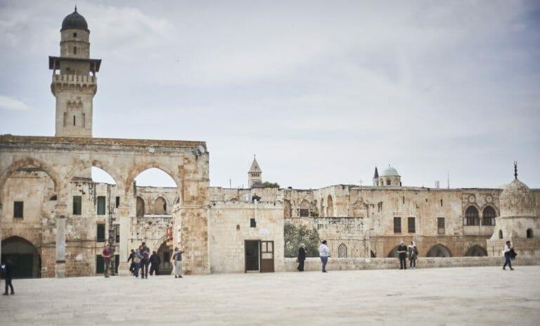 Das Gelände des Tempelbergs mit Al-Aqsa-Moschee in Jerusalem ist wegen Corona geschlossen