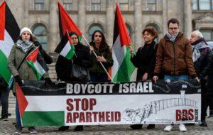 BDS-Austria auf einer antiisraelischen Demonstration in Berlin
