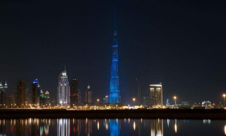 Dubais Wahrzeichen, der Burj Khalifa, ist wegen Corona für Touristen gesperrt