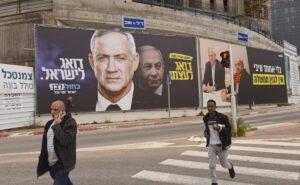Die beiden Hauptkontrahenten Benny Gantz und Benjamin Netanjahu