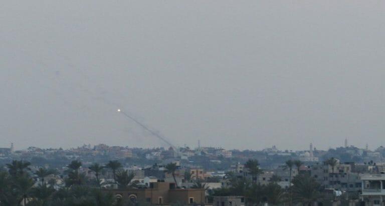 Aus dem Gazastreifen auf Israel abgefeuerte Rakete