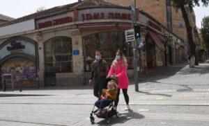Wegen Corona geschlossene Geschäfte in Jerusalem