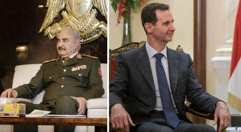 Der libysche General Haftar und Syriens Präsident Assad