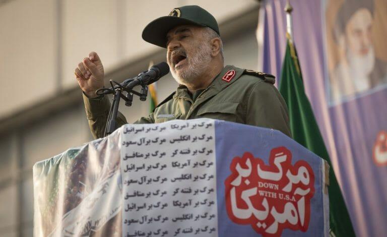 Der iranische Revolutionsgardenführer Hossein Salami