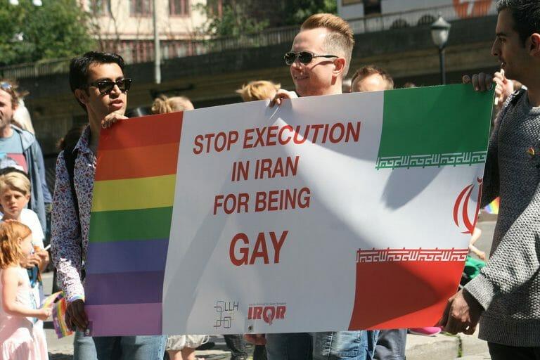 Demonstration gegen die Todesstrafe für Homosexualität im Iran
