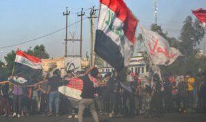 Proteste gegen den mittlerweile zurückgetretenen designierten Premierminister Tawfiq Allawi im Irak
