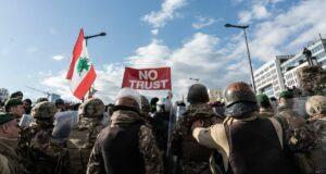 Protetse gegen den Premierminster des Libanon Hassan Diab