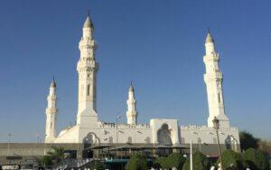 Die angeblich von Mohammed gegründete Quba-Moschee in Medina