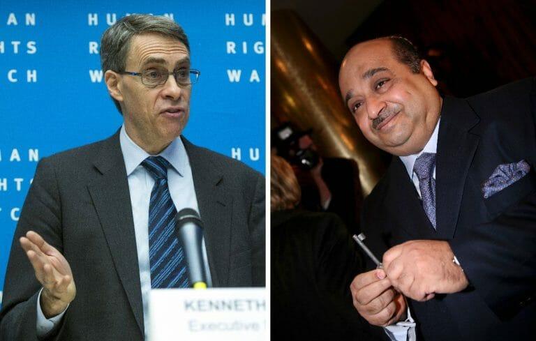 HRW-Geschäftsführer Kennth Roth, saudischer Geschäftsmann Mohamed Bin Issa Al Jaber