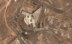 Luftaufnahme des berüchtigten syrischen Foltergefängnisses Sednaya