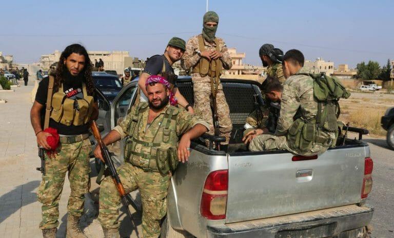 Von der Türkei unterstützte Milizionäre in Syrien