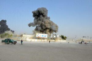 Schauplatz eines Autobombenanschlags der Taliban in Kandahar/Afghanistan im Juli 2019. (imago images/Xinhua)