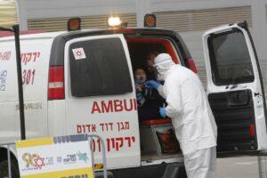 Magen David, das israelische Pendant zum Roten Kreuz, im Einsatz gegen die Corona-Epidemie. (imago-images/Xinhua)