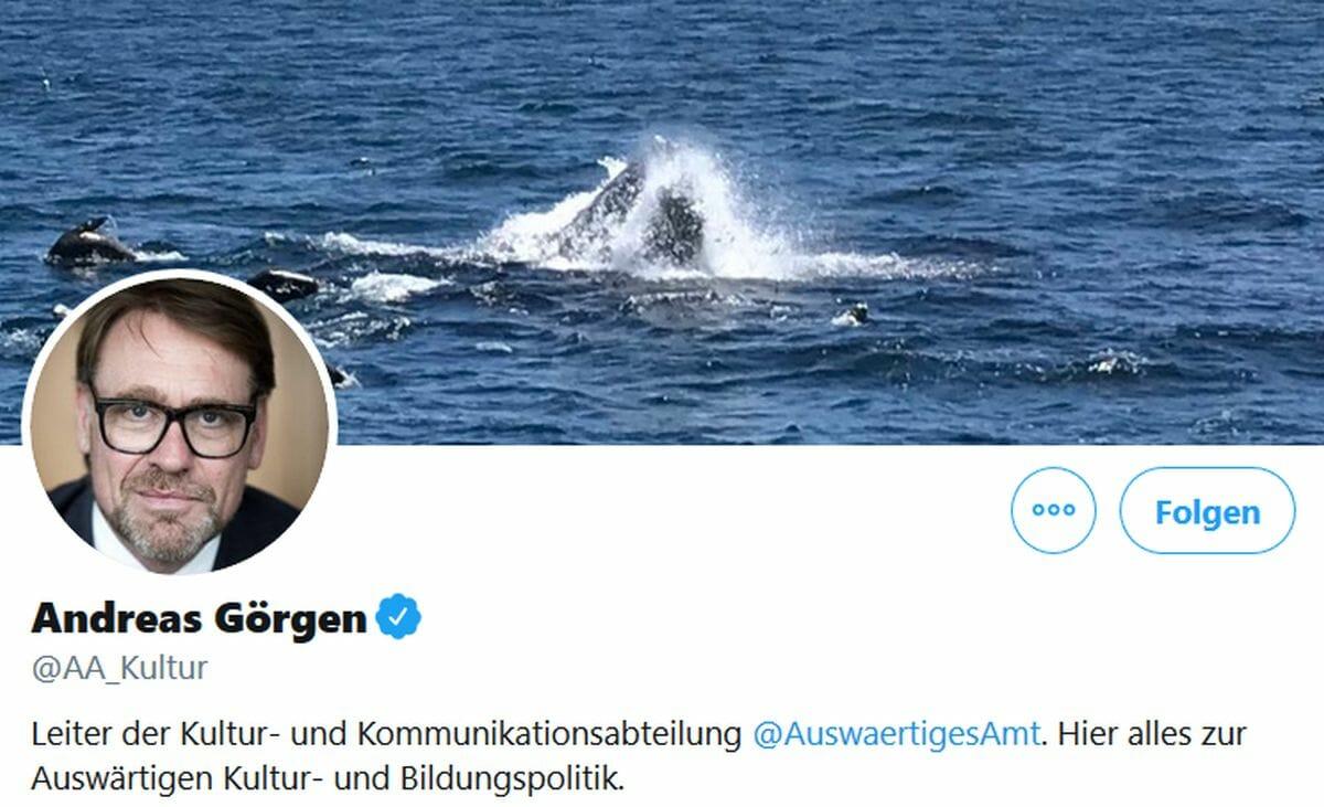Der Twitter-Account des Leiter der Kultur- und Kommunikationsabteilung des Auswärtigen Amtes