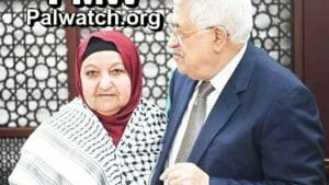 Abbas empfängt die Mutter von vier verurteilten Terroristen in seinem Büro
