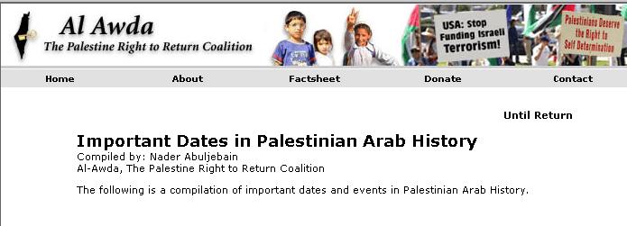 Kalender der Koalition für das palästinensische Rückkehrrecht Al Awda