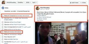 Der Facebook-Account von Hind Khoudary