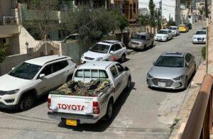 Händler in Sulaimaniyya liefert während des Corona-Lockdowns Gemüse