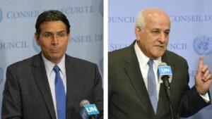 Der israelische UN-Gesandte Danon und sein palästinensischer Amtskollege Mansour