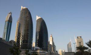 Das Dubai International Financial Center in den Vereinigten Arabischen Emiraten